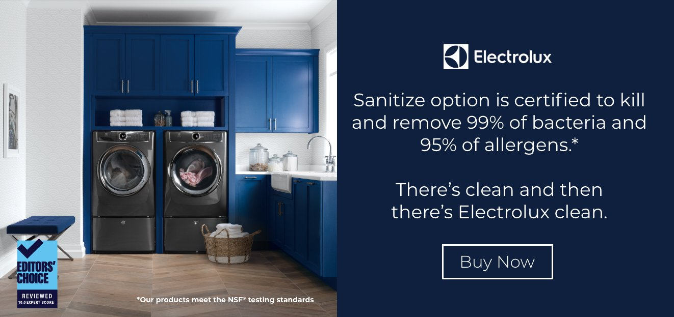 Electrolux Laundry Sanitize Option
